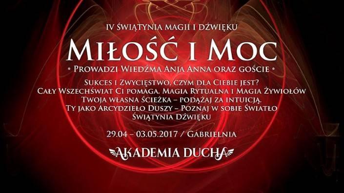 KWI 29 IV Świątynia Magii iDźwięku Magia iMoc Gabrielnia