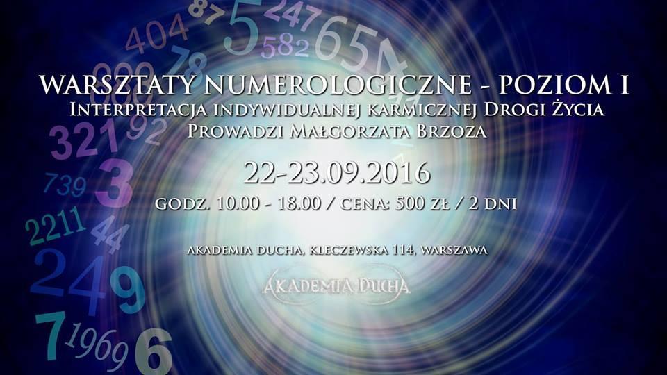 Warsztaty znumerologii Poziom 1 – Małgorzata Brzoza