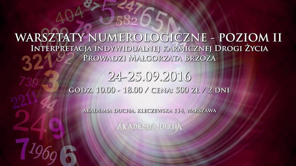 Warsztaty znumerologii Poziom II – Małgorzata Brzoza