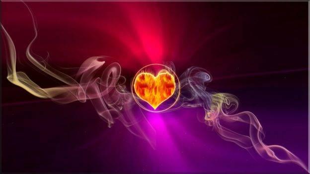 moc fioletowego płomienia