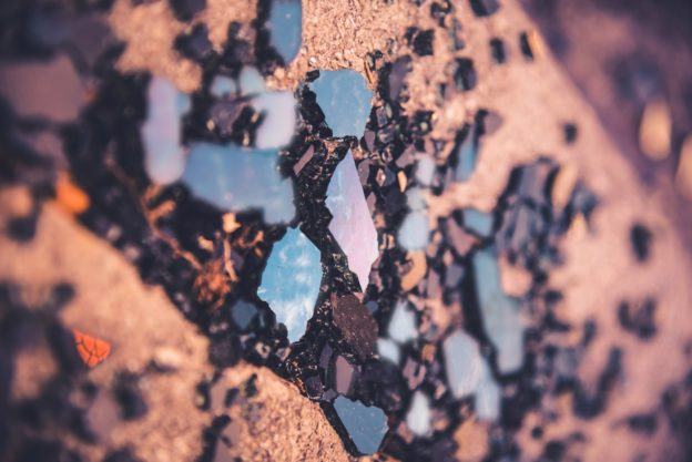 pęknięcie minerału
